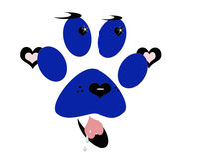 爱您的狗图标徽标 免版税库存图片