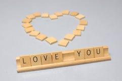 爱您 库存图片