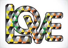 爱情人节卡片的字体类型 向量例证
