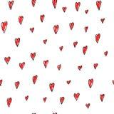 爱情人节心脏无缝的样式 向量例证