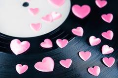 爱情歌曲纪录 库存图片