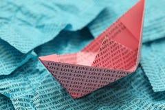 爱情船在问题海  库存图片