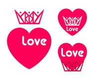 爱愉快的情人节卡片,字体类型 免版税库存照片