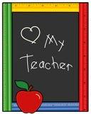 爱我的教师 免版税图库摄影