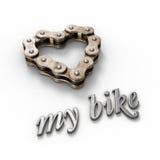 爱我的自行车 免版税库存图片