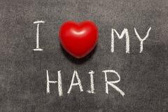 爱我的头发 免版税库存图片