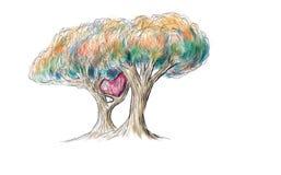 2爱护树木画 免版税库存照片