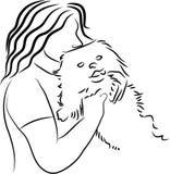 爱拥抱狗 免版税库存图片