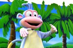 爱探险的朵拉猴子起动 免版税库存照片