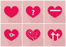 爱故事对情人节传染媒介例证的 库存照片