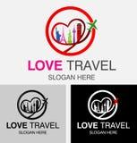 爱旅行商标 库存例证