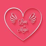 爱是在心脏框架的不可思议的词组 库存图片