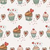 爱杯形蛋糕 库存照片