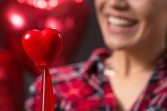 爱概念红色心脏,爱,逗人喜爱 库存照片