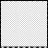 爱正方形相框由被隔绝的动画片黑心脏做成 皇族释放例证