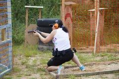 """爱沙尼亚†""""Juuli 25-26,爱沙尼亚语的IPSC打开2015年冠军 库存照片"""