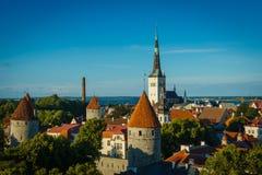 爱沙尼亚塔林,老城市 免版税图库摄影