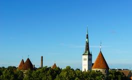 爱沙尼亚塔林,老城市 库存图片