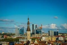 爱沙尼亚塔林,老城市 免版税库存照片