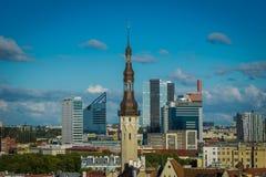 爱沙尼亚塔林,老城市 图库摄影