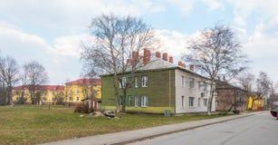 爱沙尼亚塔林Kopli distric地区视图 免版税图库摄影