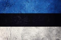 爱沙尼亚标志grunge 与难看的东西纹理的爱沙尼亚语旗子 免版税库存图片