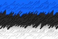 爱沙尼亚的国旗 库存照片