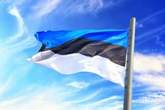 爱沙尼亚语标志 库存图片