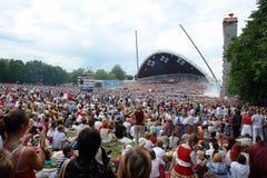 爱沙尼亚语歌曲节日 库存图片