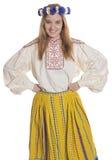 爱沙尼亚语民间衣物 免版税库存图片