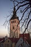 爱沙尼亚 塔林- 2017年1月11日 圣尼古拉斯教会在塔林Niguliste 免版税库存照片