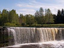 爱沙尼亚jagala瀑布 库存照片