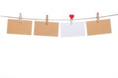 爱消息信件,情人节母亲节心脏形状 库存图片