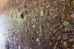 爱消息在朱丽叶房子,维罗纳,意大利祝愿墙壁 免版税库存照片
