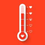 爱温度计 库存图片