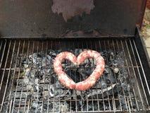 爱烤肉 库存图片