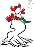 爱爱和树  图库摄影