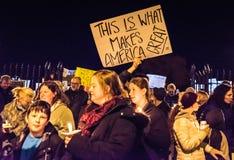 爱王牌怨恨抗议游行-萨拉托加斯普林斯, NY 免版税库存照片