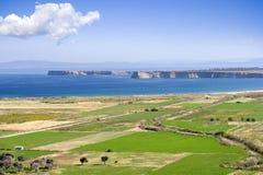 爱琴海全景地点 库存图片