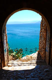 爱琴海希腊海运 库存图片