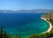 爱琴海海岸海运 免版税库存图片