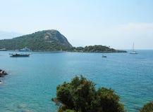 爱琴海海岸线横向 免版税库存照片