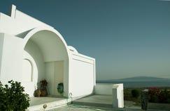 爱琴海结构cyclades希腊房子视图 免版税库存照片