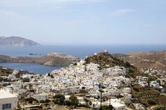 爱琴海cyclades ios横向海运 库存照片