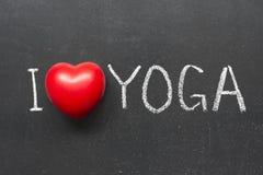 爱瑜伽 库存图片