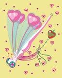 爱白色蜻蜓与护身符的 库存照片