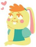 爱的兔宝宝女孩 库存例证