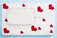 爱的声明的背景在情人节 免版税库存图片