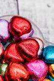 爱的心脏巧克力 免版税库存图片