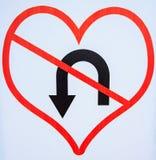 爱的标志不改变也不返回 图库摄影